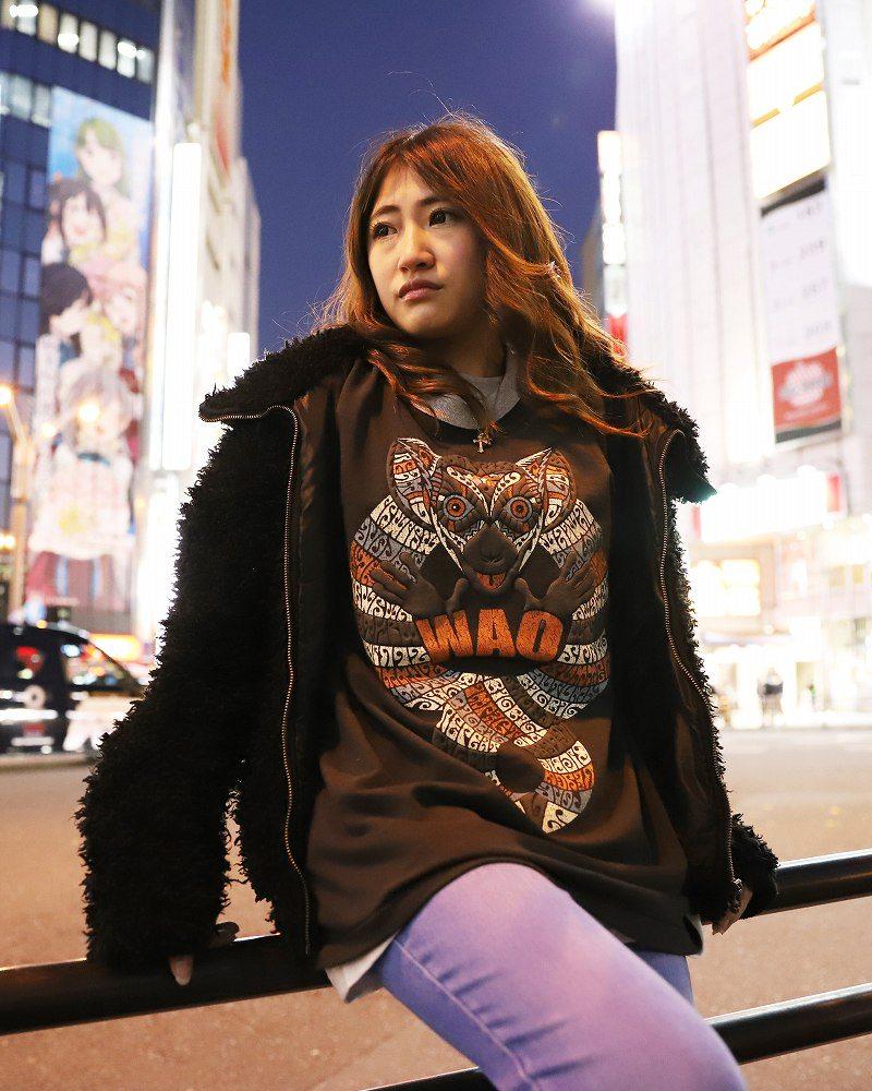 【OTACCIMAN】ワオキツネザルTシャツ〜WAO〜の画像4